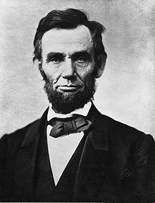 Abraham Lincoln (1863). Fotografie von Alexander Gardner.
